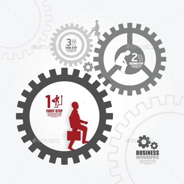 GraphicRiver Businessman in Gear Success Concept 7785085