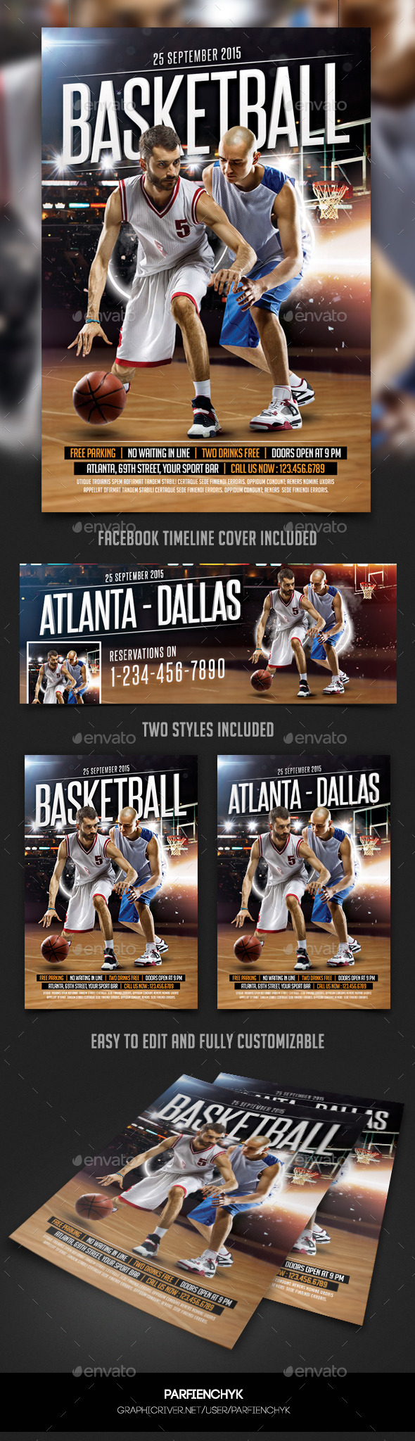 GraphicRiver BasketBall Flyer Template 10254994