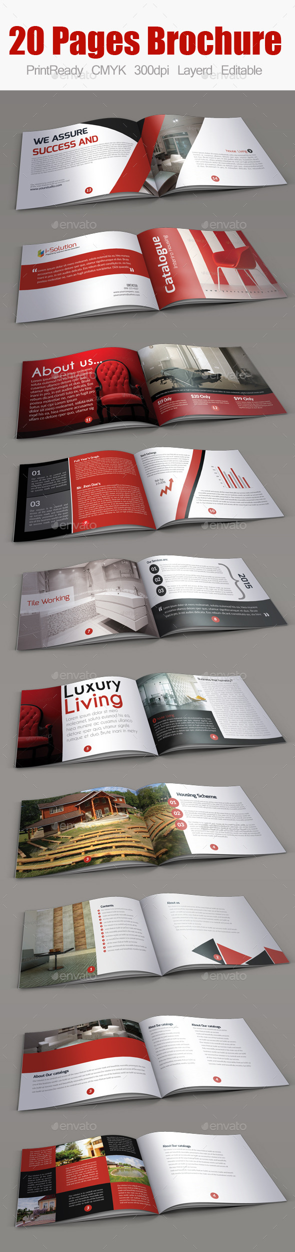 GraphicRiver Real Estate Minimal Square Brochure 10255174