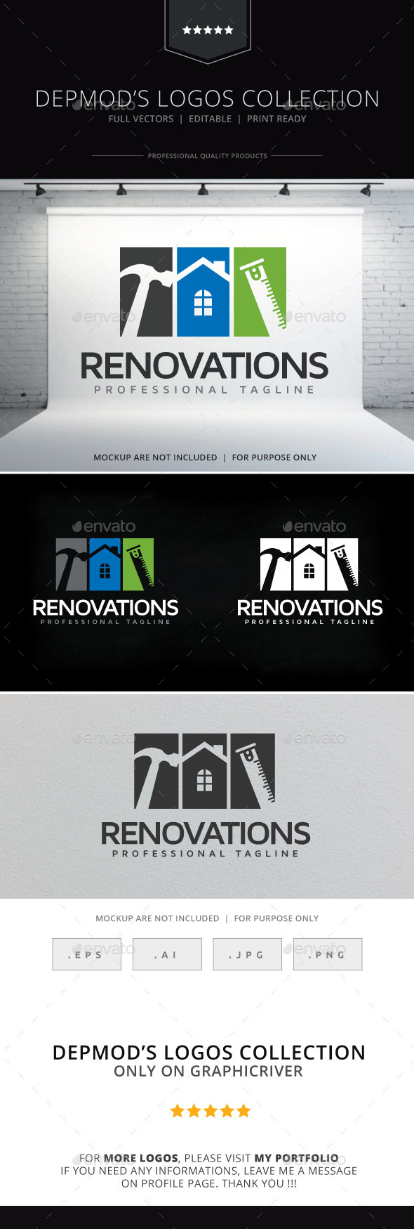 GraphicRiver Renovations Logo 10255243