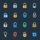 Vector Padlock Icons - GraphicRiver Item for Sale