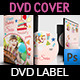 Birthday Party DVD Cover and DVD Label Template - GraphicRiver Item for Sale