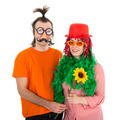 Man and Woman dressed in funny carnival costumes - PhotoDune Item for Sale