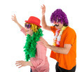 Man and Woman dressed in carnival costumes dancing a polonaise - PhotoDune Item for Sale