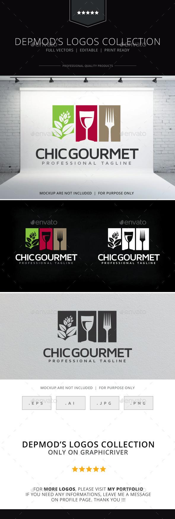 GraphicRiver Chic Gourmet Logo 10255321