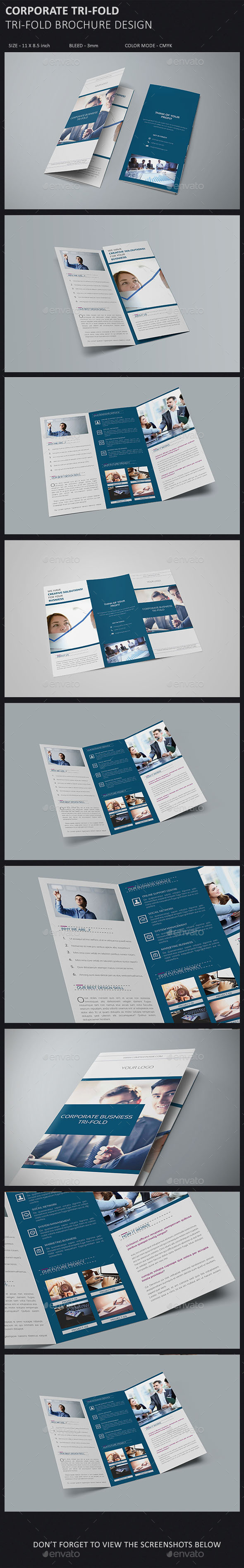 GraphicRiver Corporate Tri-fold Brochure 10255393