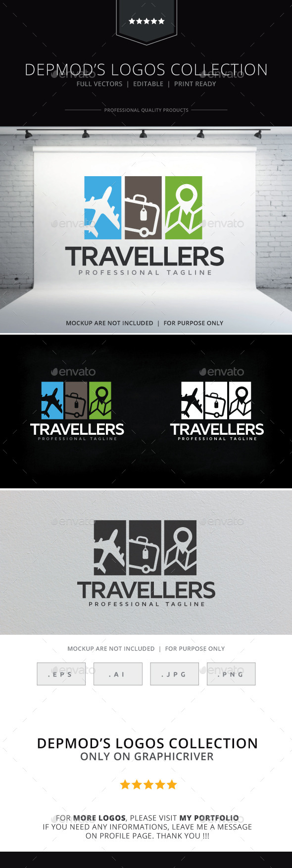 GraphicRiver Travellers Logo 10255392