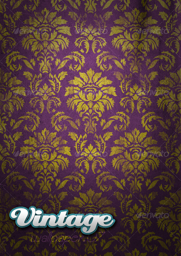 Vintage Wallpaper .07 - Backgrounds Graphics