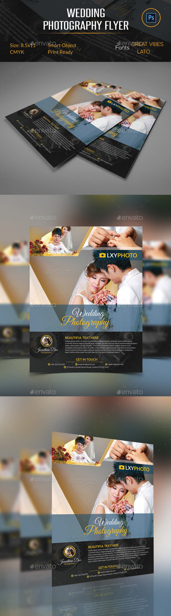GraphicRiver Wedding Photography Flyer 10255616