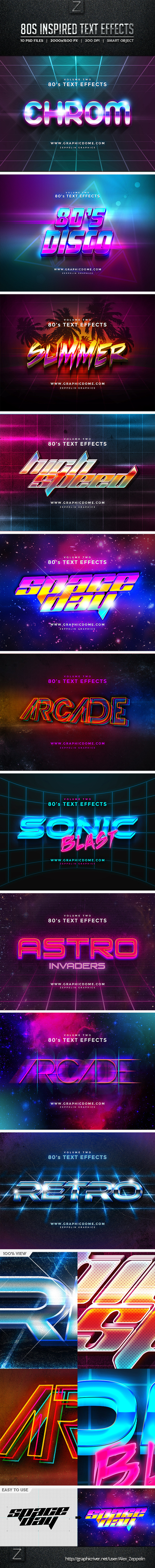 GraphicRiver 80s Text Effects 10256165
