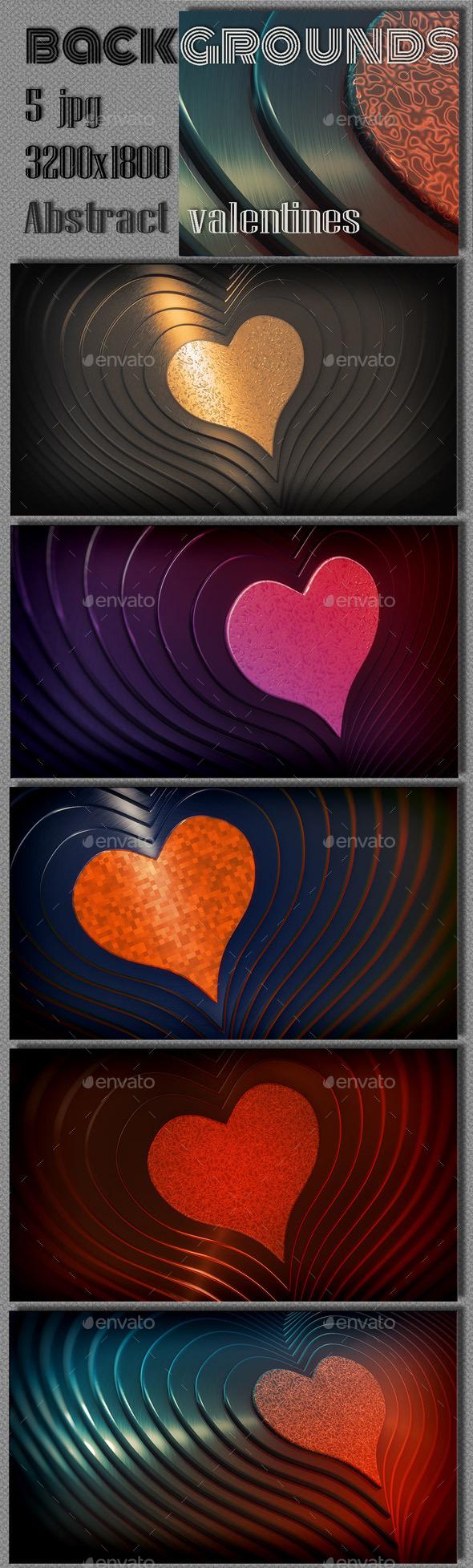 GraphicRiver Valentine Hearts Background 10256173