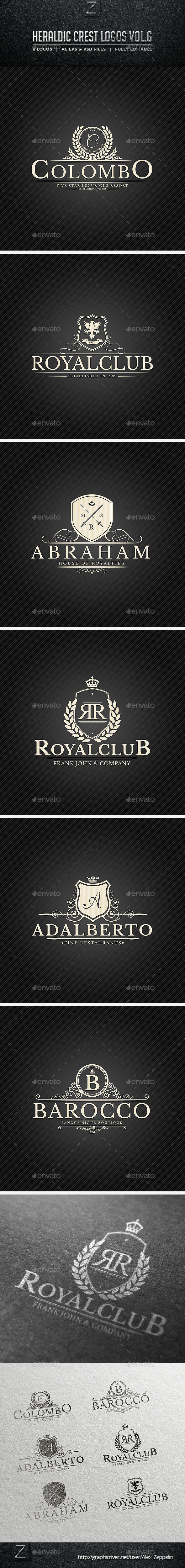 GraphicRiver Heraldic Crest Logos Vol.6 10256199