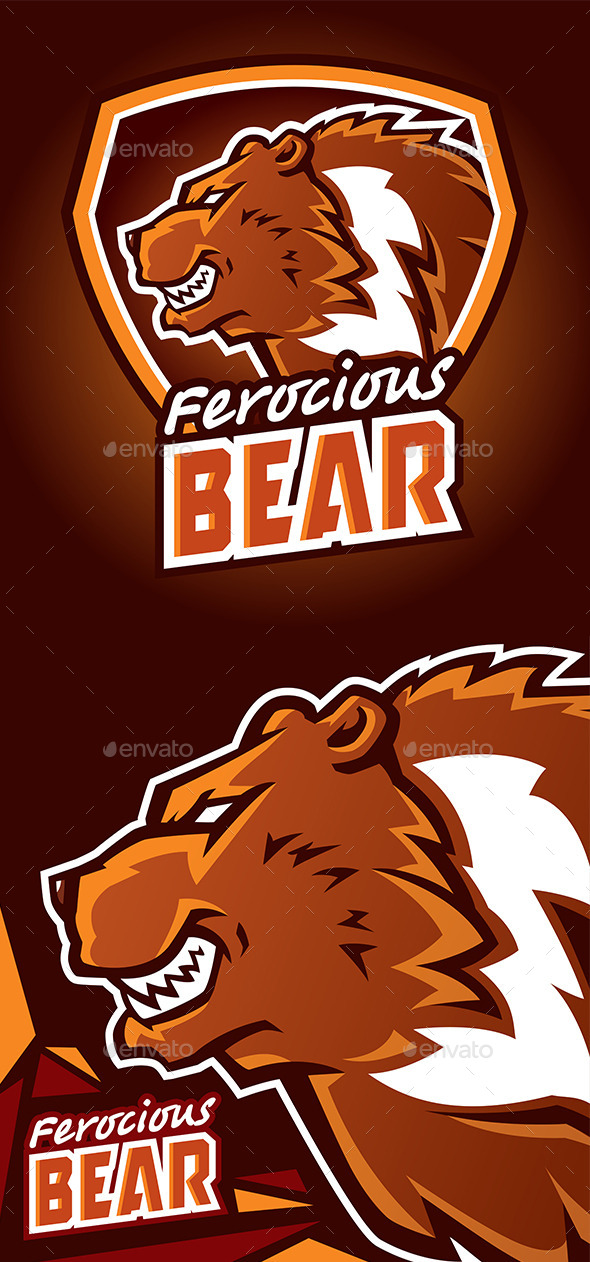 GraphicRiver Ferocious Bear Logo 10246080