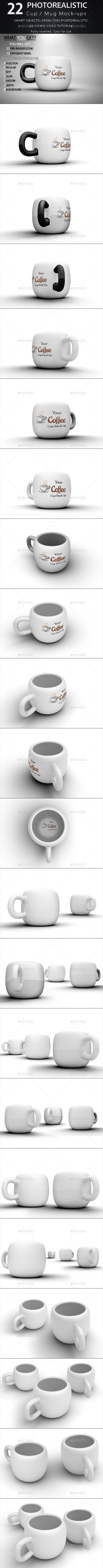GraphicRiver 22 Cup Mug Mock-ups 10256622
