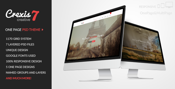 ThemeForest Crexis One Page PSD Theme 10256992