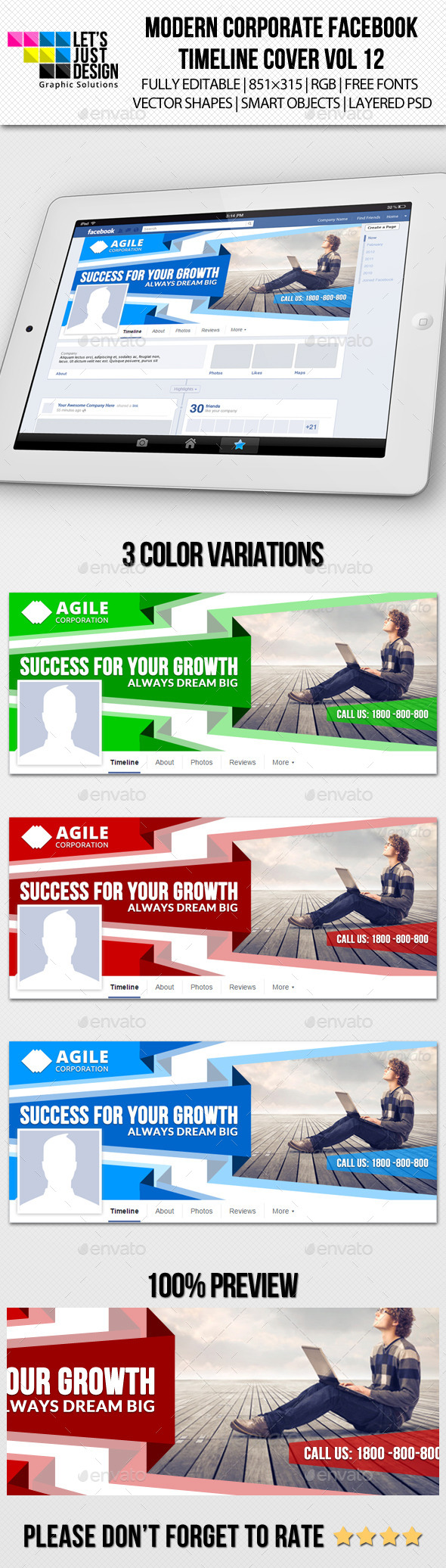 GraphicRiver Modern Corporate Facebook Timeline Cover Vol 12 10257331