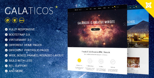 ThemeForest Galaticos Multipurpose Virtuemart template 10159168