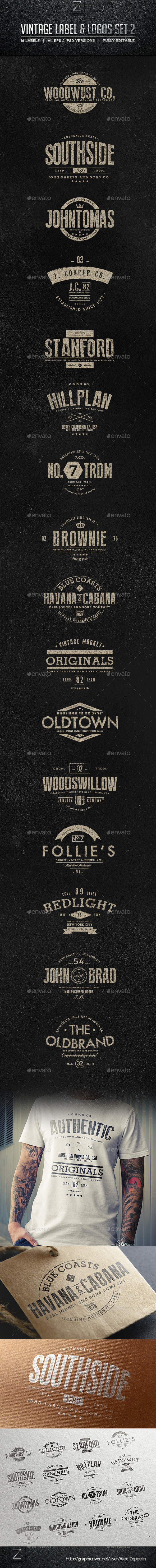 GraphicRiver Vintage Badges & Labels Set 2 10257339
