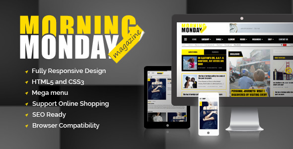 Monday Morning Magazine HTML5 template