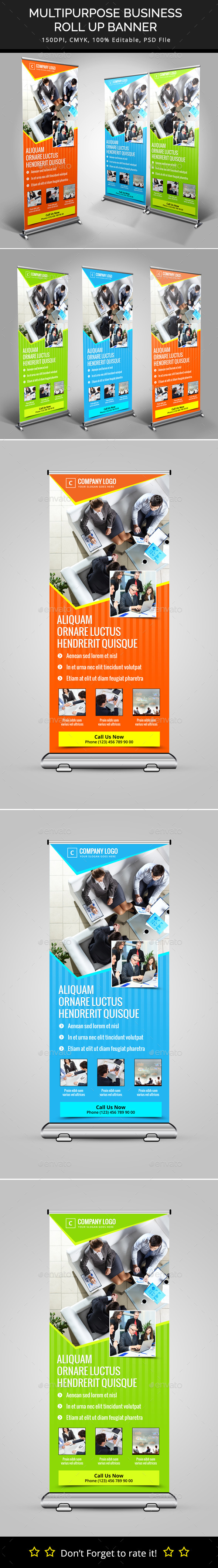 GraphicRiver Multipurpose Business Roll Up Banner 10224533