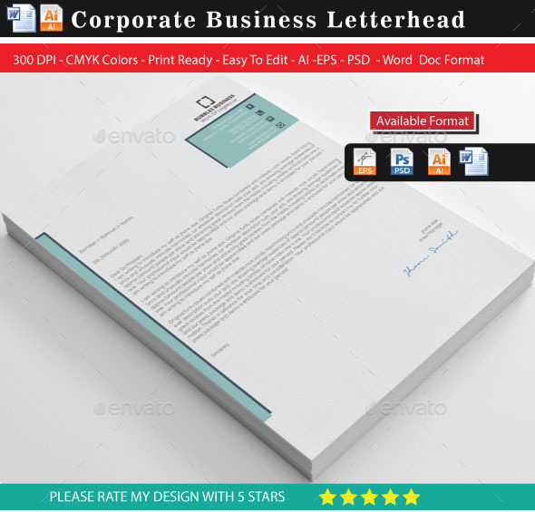 GraphicRiver Simple Trand Letterheads 10257592