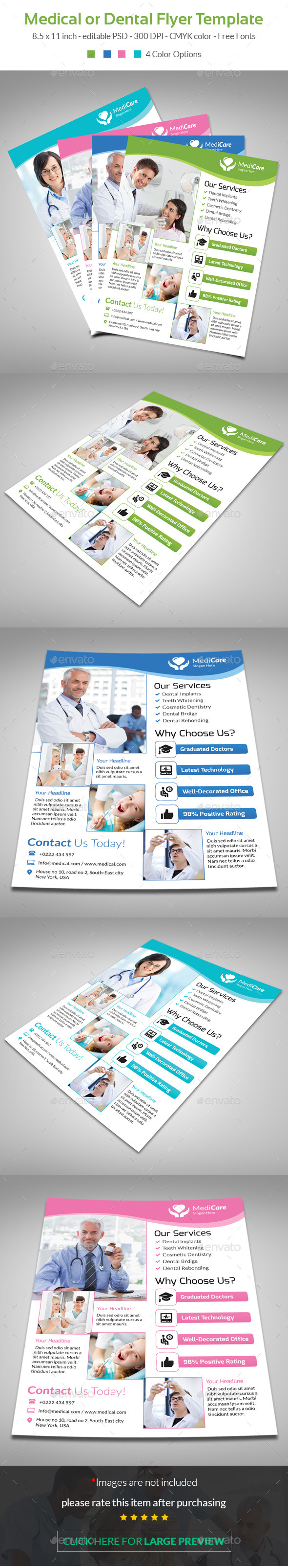 GraphicRiver Medical Dental Flyer Template 10257779