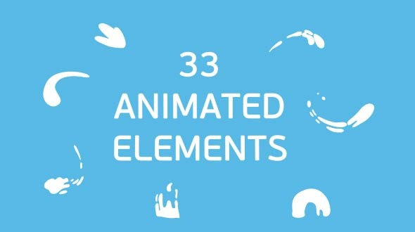 33 Splash Animated Elements