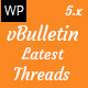 Vbulletin Latest Threads - Wordpress Plugin