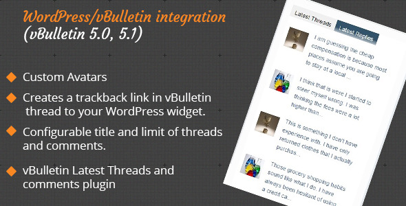 CodeCanyon Vbulletin Latest Threads Wordpress Plugin 10176117