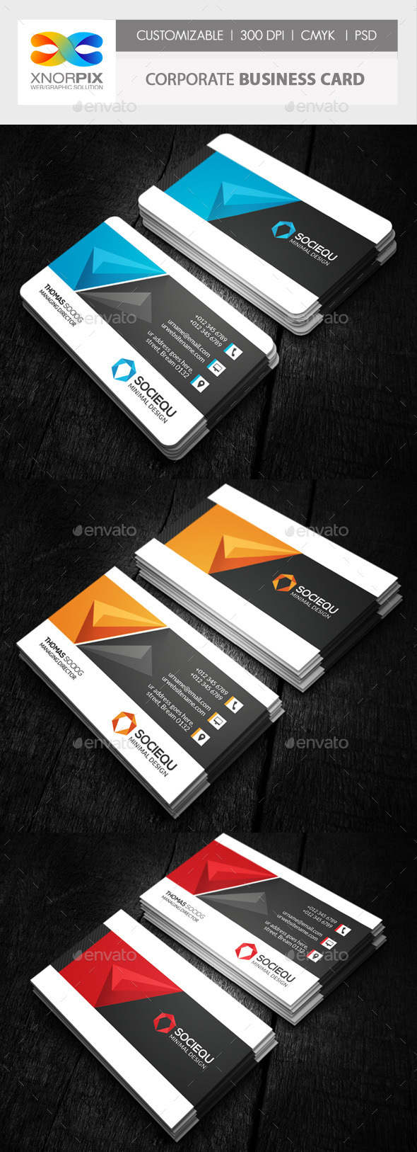 GraphicRiver Corporate Business Card 10258339
