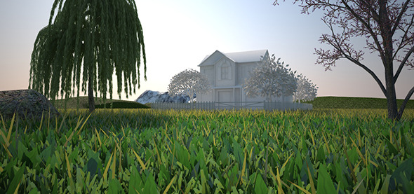 3DOcean COMPLETE Environment & Grass Vray C4D 10258448