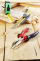 Pliers and a cutter lie on the workbench - PhotoDune Item for Sale
