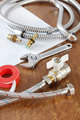 Still life with spare parts and working tools for water supply - PhotoDune Item for Sale