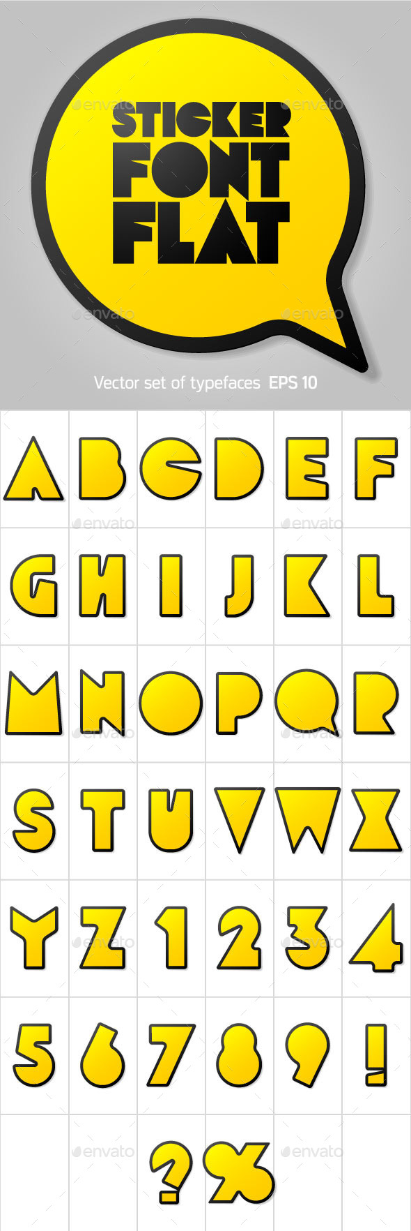GraphicRiver Alphabet in the Form of Stickers 10258714