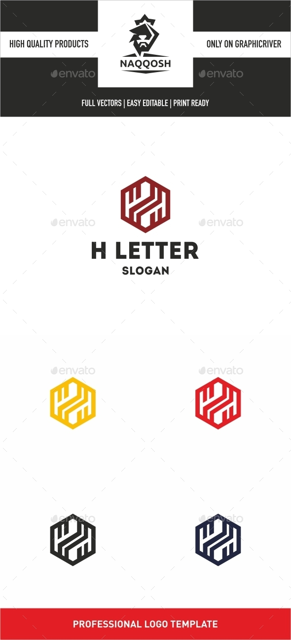 GraphicRiver H Letter 10258719