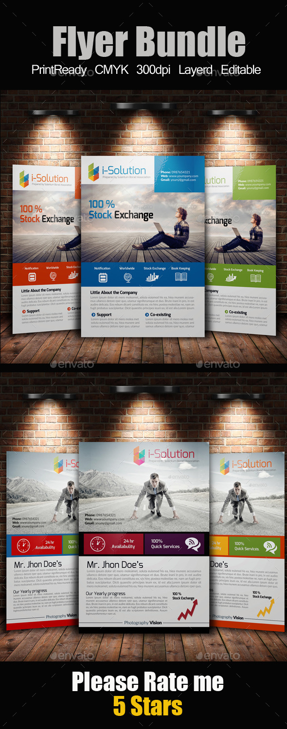 GraphicRiver A4 Multi Use Business Flyer Bundle 10258720