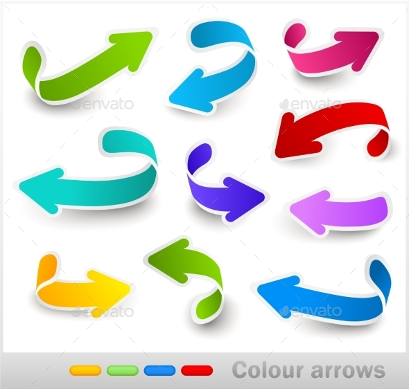 GraphicRiver Collection of Colour Arrows 10258724