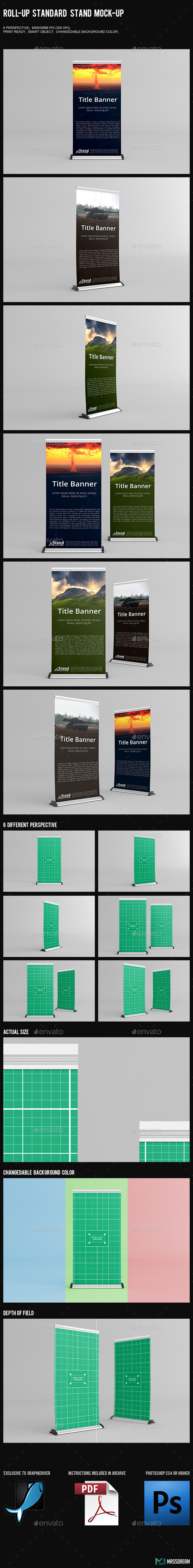 GraphicRiver Roll-Up Standard Stand Mock-Up 10258728