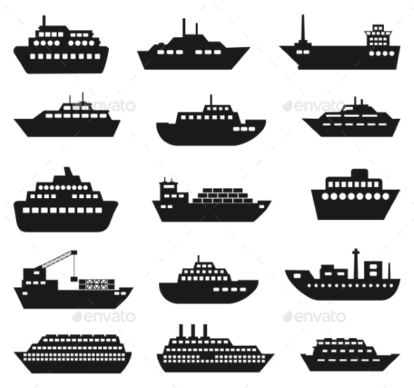 GraphicRiver Ship and Boat Icon Set 10258744
