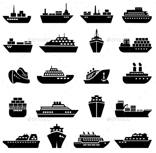 GraphicRiver Ship and Boat Icon Set 10258784