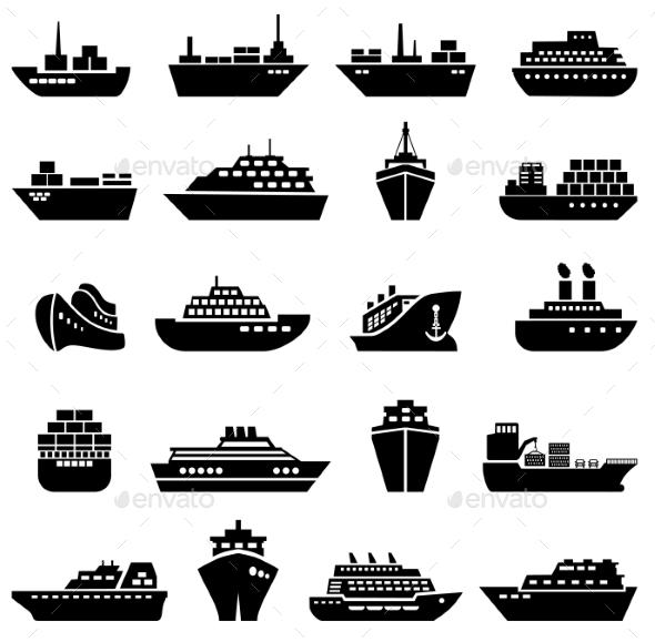 GraphicRiver Ship and Boat Icon Set 10258784