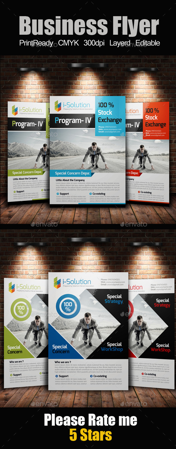 GraphicRiver A4 Multi Use Business Flyer Bundle 10258824
