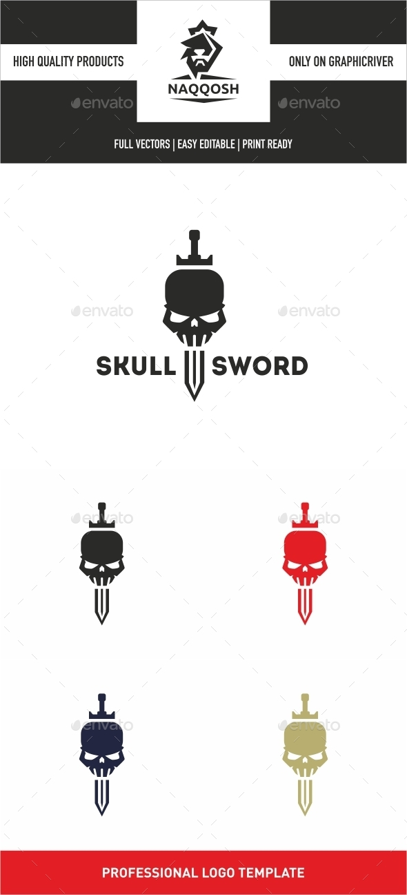 GraphicRiver Skull Sword 10258931