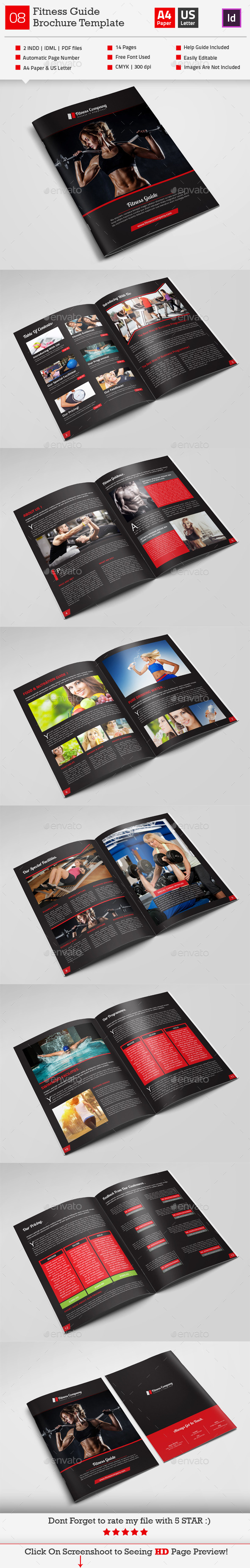 GraphicRiver Fitness Guide Brochure Template 10216693