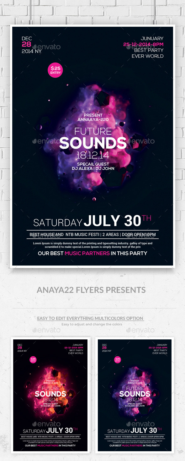 GraphicRiver Minimal Abstract Flyer Templates 10258982