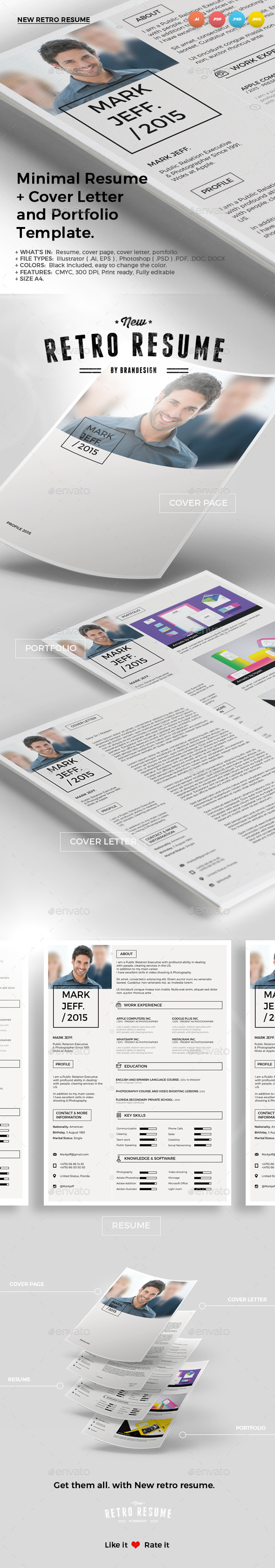GraphicRiver New Retro Resume 10203076