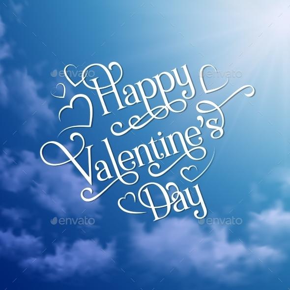 GraphicRiver Happy Valentine s Day Sky Background 10259036
