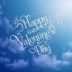 Happy Valentine's Day Sky Background - GraphicRiver Item for Sale