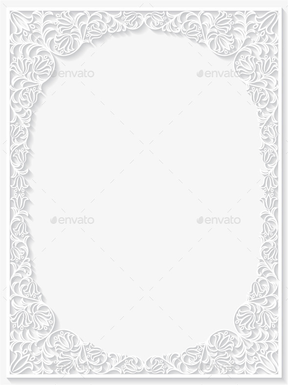 GraphicRiver Abstract Paper Floral Frame 10259038