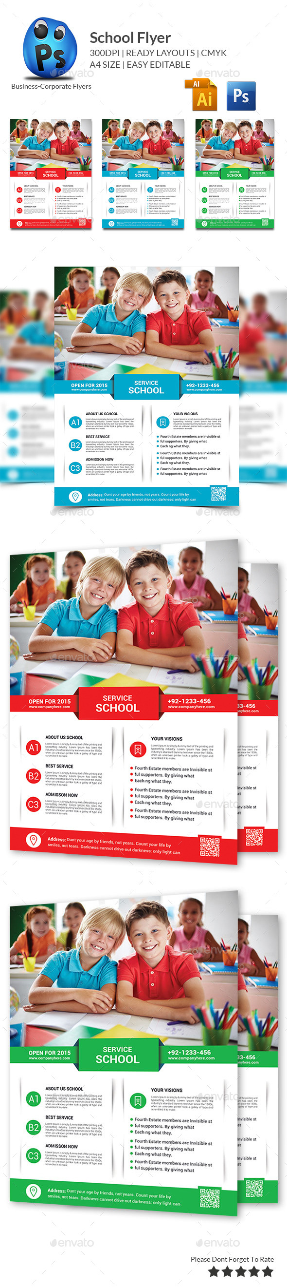 GraphicRiver School Education Flyer Template 10259060